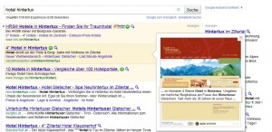Google Preview für AdWords
